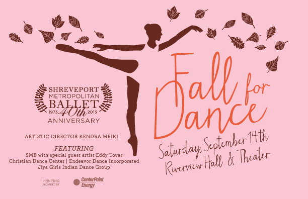 Fall for Dance graphic design by Cadence